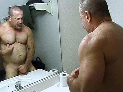 Daddy digest Bathroom Stroking
