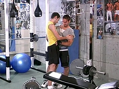 Jeff Baron works at the gym and this sexy instructor gets to meet a lot of cute cubs and one of them is Simon August. Simon is new and Jeff and his friend are initiating him by flanking him on both sides and fucking his mouth and tight ass at the same time.video